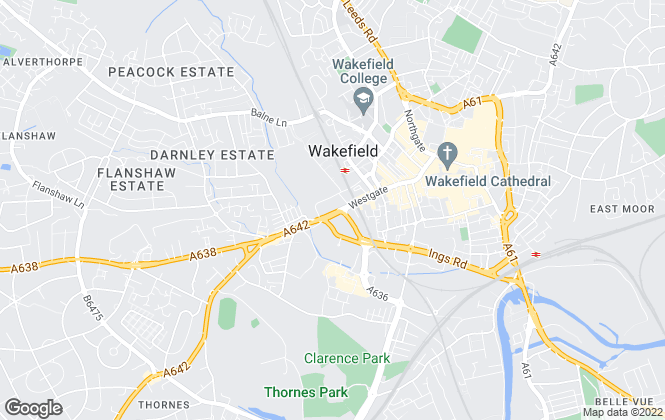 Map for Hodsons Estate Agents, Wakefield
