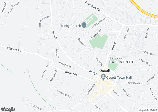 Map for Turner Close, Ossett