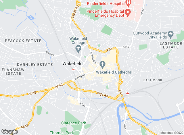 Map for Cooper & Cutt, Wakefield