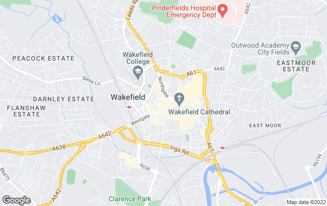 Map for Simon Blyth, Wakefield