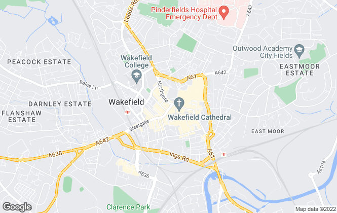 Map for Reeds Rains Lettings, Wakefield