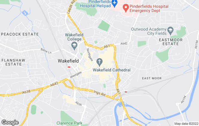 Map for Whitegates, Wakefield