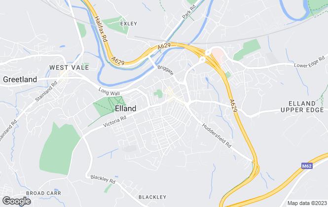 Map for Dacre Son & Hartley, Elland