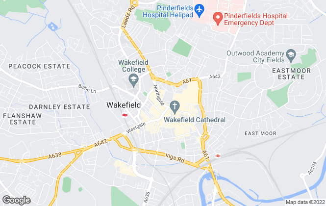 Map for Fine & Country Manning Stainton, Wakefield