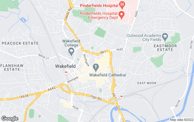 Map for Letting Complete Ltd, Wakefield