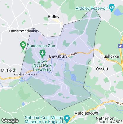 Map of property in Dewsbury
