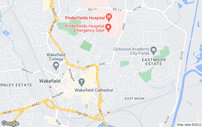 Map for HomeFinder Solutions, Wakefield