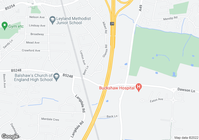 Map for Arundel Way, Leyland, Lancashire, PR25