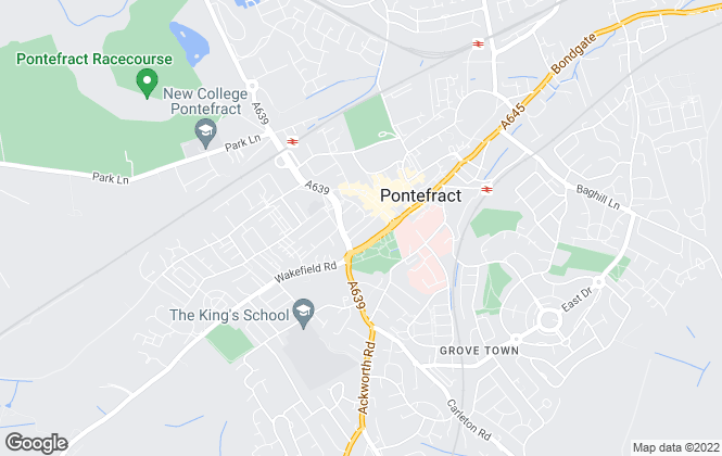 Map for Bairstow Eves, Pontefract