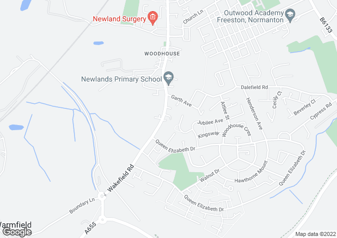 Map for 193  Wakefield Road, Normanton, Normanton, West Yorkshire, WF6