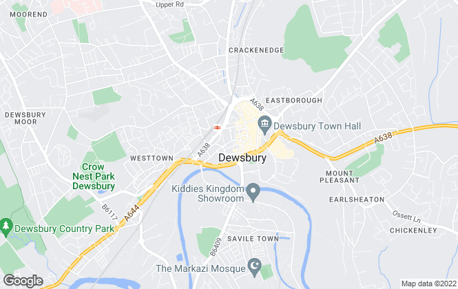 Map for Key Properties, Dewsbury