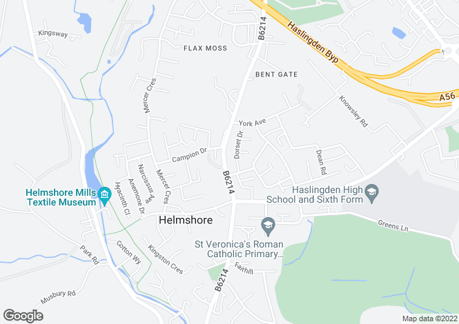 Map for Flaxmoss House, Helmshore Road, Helmshore, Lancashire