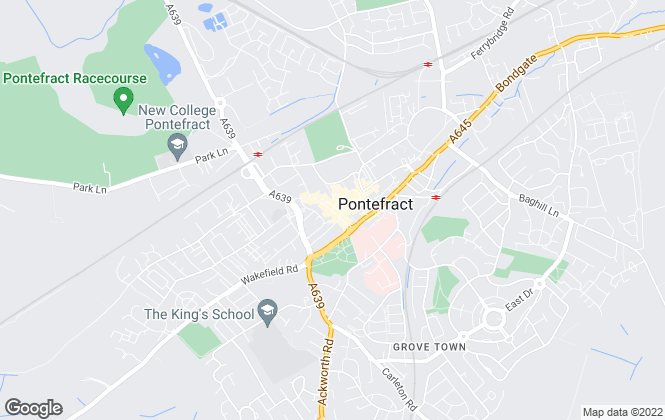 Map for Reeds Rains , Pontefract