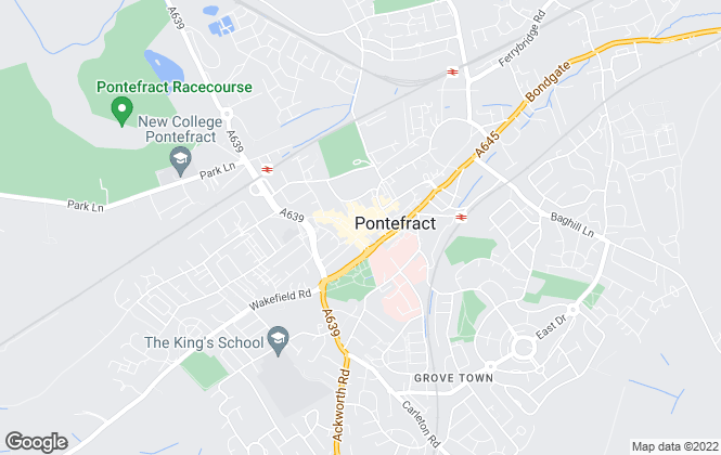 Map for William H. Brown, Pontefract
