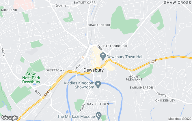 Map for Hunters, Dewsbury