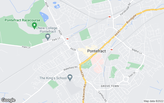 Map for Number 1 Letting Ltd, Pontefract