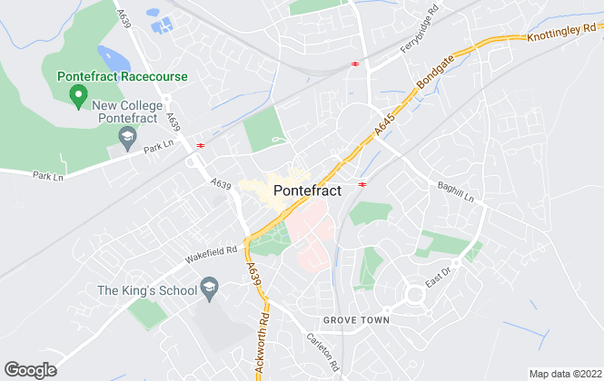 Map for 5 Towns Estate Agents, Pontefract
