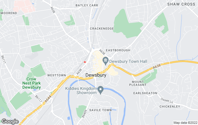 Map for William H. Brown, Dewsbury