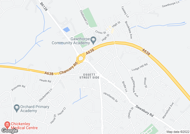 Map for Leeds Road, Ossett,wf5 9qa, Ossett, West Yorkshire, WF5