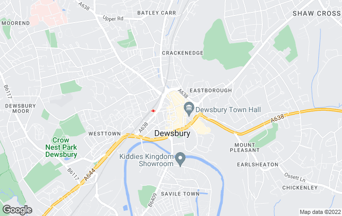 Map for Whitegates, Dewsbury