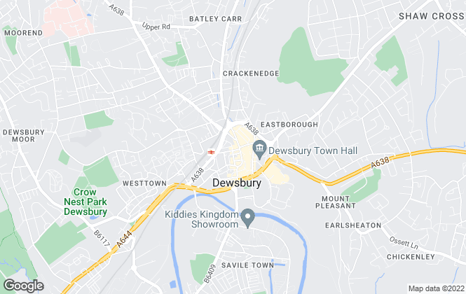 Map for YOUR MOVE Lettings, Dewsbury