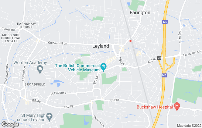 Map for Bridgfords, Leyland