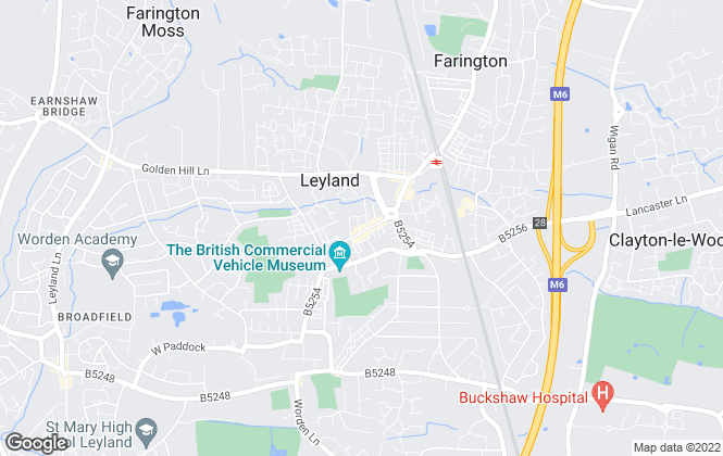 Map for Solicitor Direct, Leyland