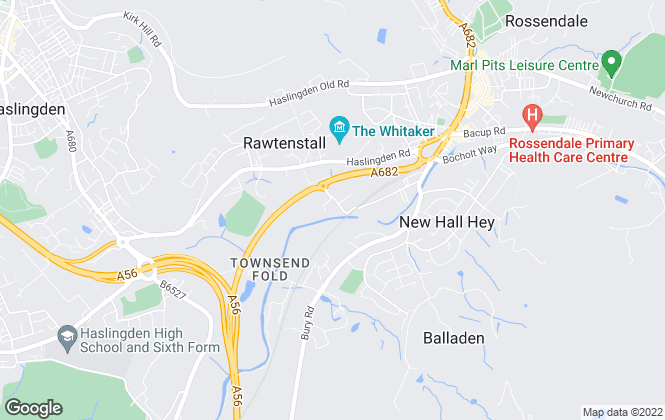 Map for Smartmove Property Group, Rossendale
