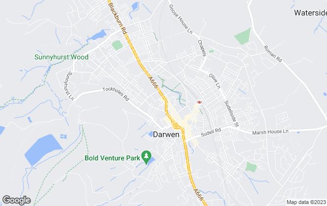 Map for Proctors Estate Agency, Darwen