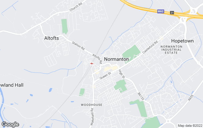 Map for Reeds Rains Lettings, Normanton