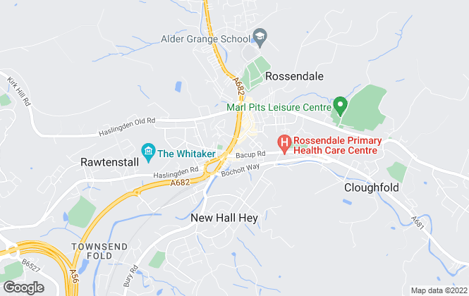 Map for Fine & Country, Rossendale