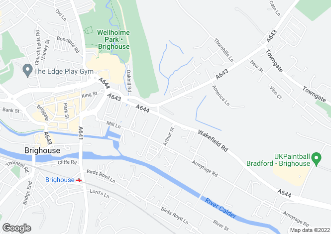 Map for Wakefield Road, Brighouse