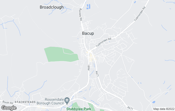 Map for Ryder & Dutton, Bacup