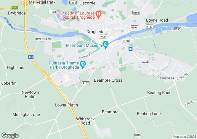 Map for 13 The Alders, Avourwen, Drogheda, Meath