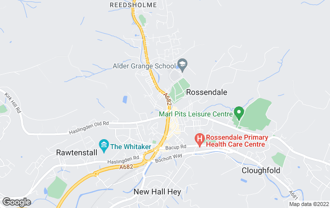 Map for Executive Property Rentals (NW) Limited, Rossendale
