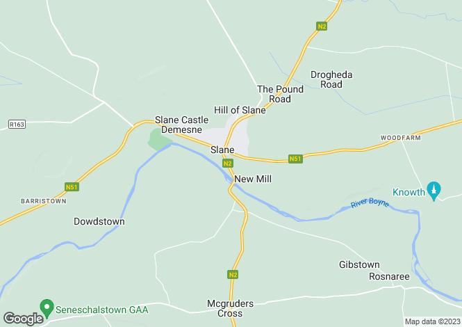 Map for Meath, Slane
