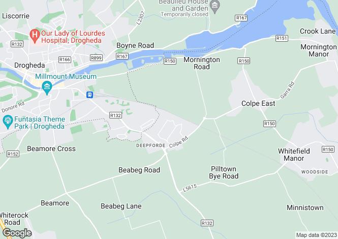 Map for 4 Park Glen, Grange Rath, Drogheda, Louth