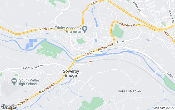 Map for William H. Brown, Sowerby Bridge