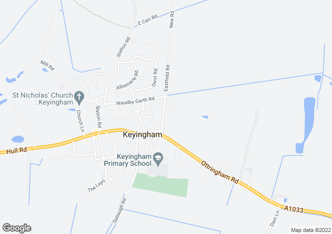 Map for Eastfield Road, Keyingham, East Riding Of Yorkshire, HU12