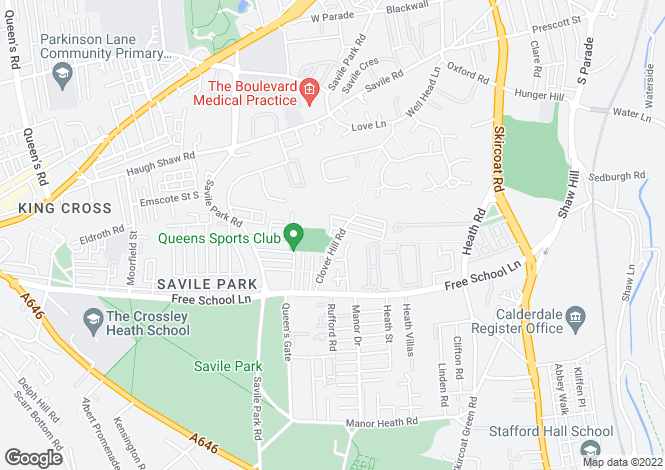 Map for Savile Park