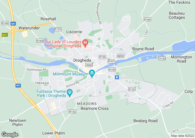 Map for The Mall, Drogheda, Louth