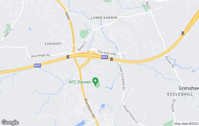 Map for Prestige New Homes, Blackburn