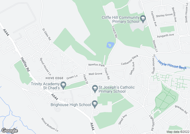 Map for HOVE EDGE, BRIGHOUSE