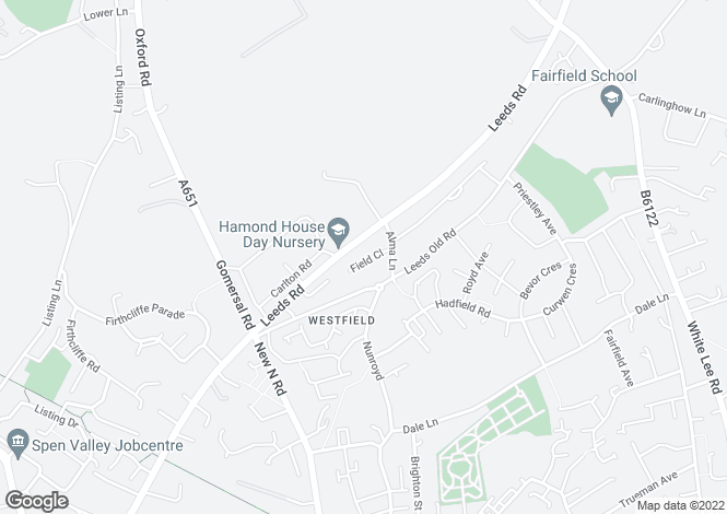 Map for Field Close, Heckmondwike