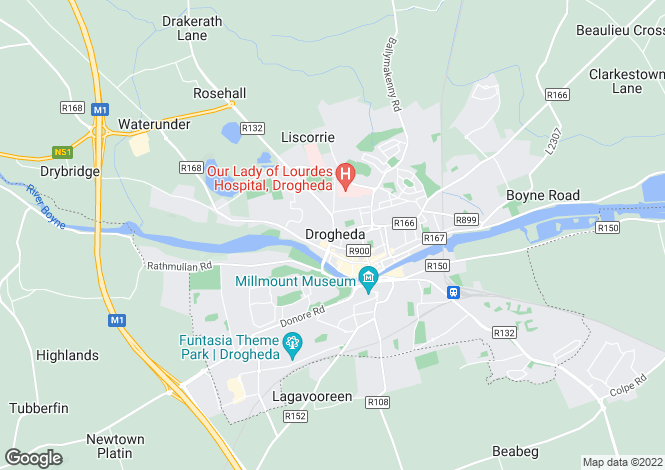 Map for 47 George's Street , Drogheda, Louth
