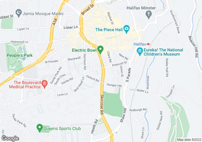 Map for Clare Court, Prescott Street, Halifax, West Yorkshire