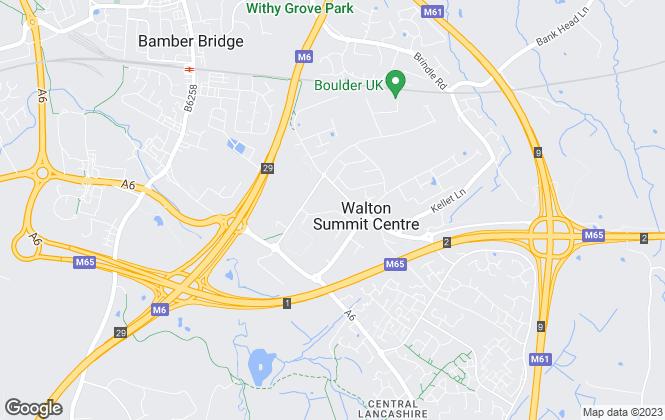 Map for Robinson Estates, Bamber Bridge