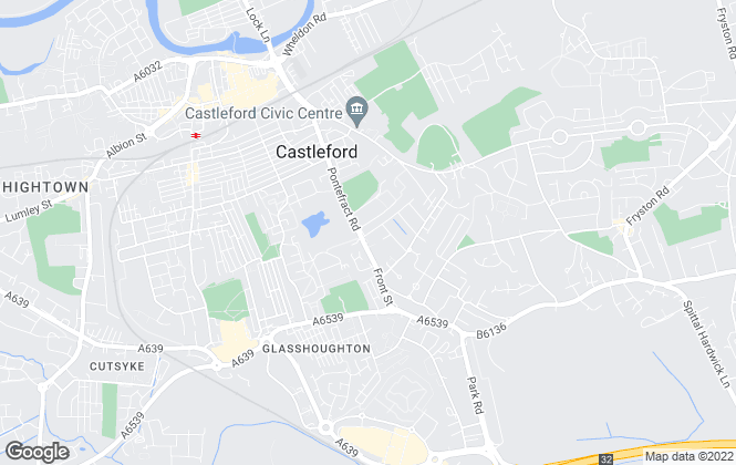 Map for Aon Properties , Castleford