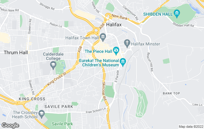 Map for Charnock Bates , Halifax