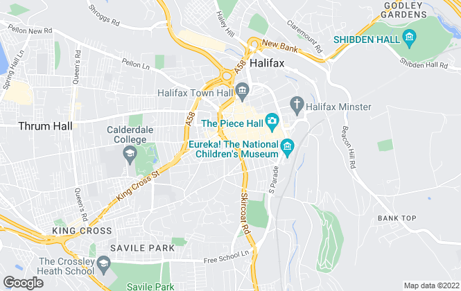Map for Boococks Estate Agents, Halifax